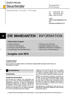 Mandanten-Information Juni 2015