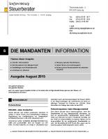 Mandanten-Information August 2015