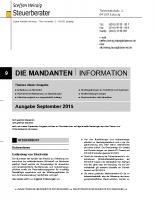 Mandanten-Information September 2015