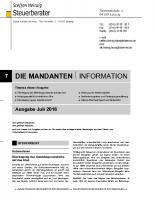 Mandanten-Information Juli 2016
