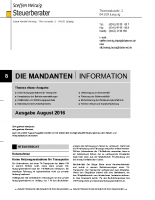 Mandanten-Information August 2016