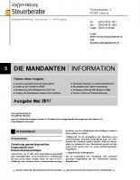 Mandanten-Information Mai 2017
