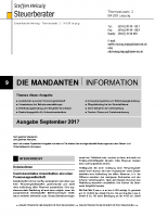 Mandanten-Information September 2017