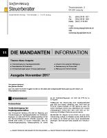 Mandanten-Information November 2017