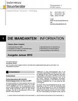 Mandanten-Information Januar 2018