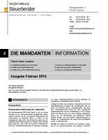 Mandanten-Information Februar 2018