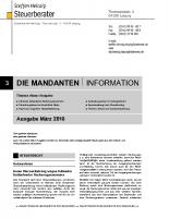 Mandanten-Information März 2018