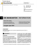 Mandanten-Information April 2018