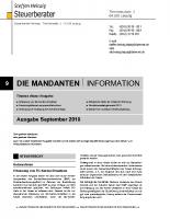 Mandanten-Information September 2018