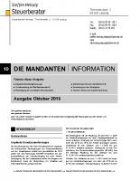 Mandanten-Information Oktober  2018