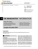 Mandanten-Information November 2018