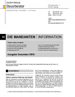 Mandanten-Information Dezember 2018