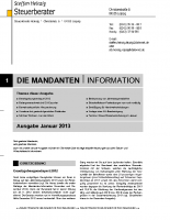 Mandanten-Information Januar 2013