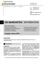 Mandanten-Information Januar 2015