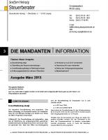 Mandanten-Information März 2013