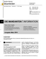 Mandanten-Information März 2014