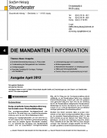 Mandanten-Information April 2012
