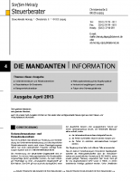 Mandanten-Information April 2013
