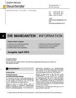 Mandanten-Information April 2015