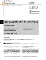 Mandanten-Information Mai 2013