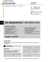 Mandanten-Information Juni 2012