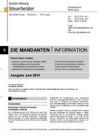 Mandanten-Information Juni 2014
