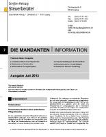 Mandanten-Information Juli 2013