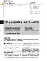Mandanten-Information August 2012