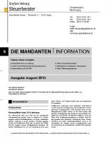 Mandanten-Information August 2013