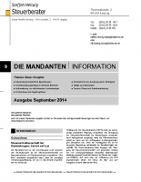 Mandanten-Information September 2014