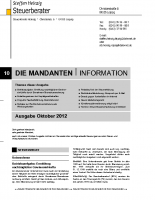 Mandanten-InformationOktober 2012