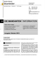 Mandanten-Information Oktober 2013