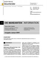 Mandanten-Information Januar 2019