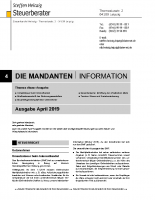 Mandanten-Information April  2019